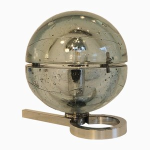 Murano Glass Globe Table Lamp by Albano Poli for Poliarte, 1960s