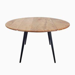 Table de Salle à Manger Ronde Noire par Lucian Ercolani pour Ercol, années 60