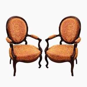 Antike Louis Philippe Stühle, 2er Set