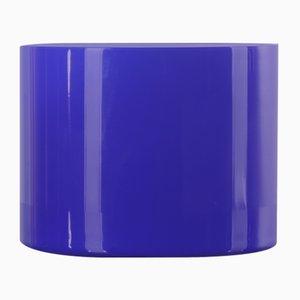 Blau-weiße italienische Vase aus Muranoglas, 1980er