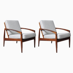 Rosewood Paper Knife Chairs from Magnus Olesen, 1950s, Set of 2