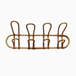 French Rattan Coat Rack, 1950s