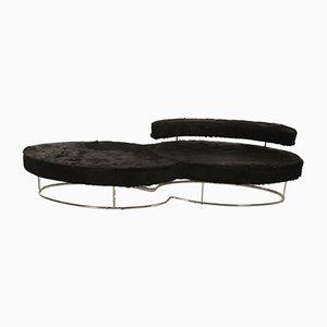 Italian Steel Chaise Lounge Sofa, 1960s