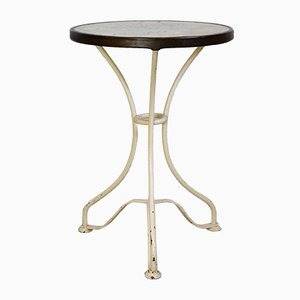 Art Deco Wrought Iron and Marble Garden Table, 1920s