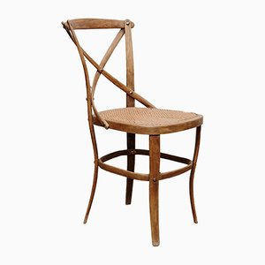 Model 91 Wood and Rattan Side Chair from Thonet, 1920s