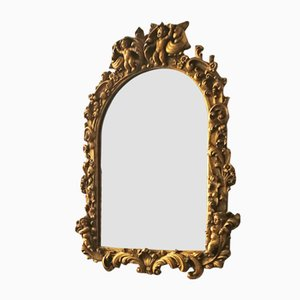 Italian Baroque Wooden Mirror, 1950s