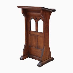 19th Century Gothic Style Carved Oak Pedestal Table