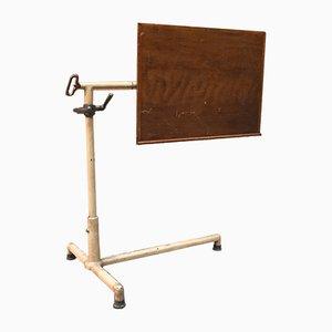Klappbarer italienischer Mid-Century Schreibtisch aus Eisen & Holz, 1950er