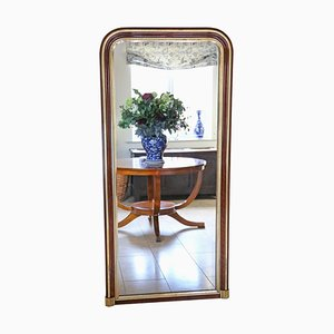 Large Antique Gilt Walnut Wall Mirror, 1900s