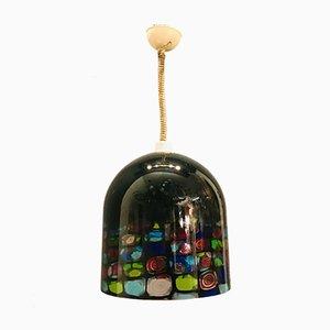 Murano Glass Pendant Lamp by Noti Massari for Leucos, 1970s