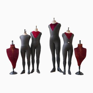 Antique Mannequin Set from Stockmann, Set of 9