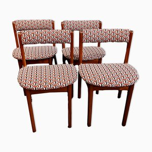 Teak Dining Chairs, 1960s, Set of 4