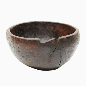 Patinated Wooden Bowl, 1947