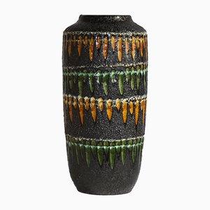 Vase Fat Lava Vintage Brutaliste de Scheurich, Allemagne, années 70