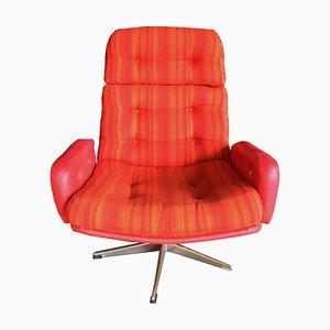Moderner skandinavischer Sessel aus Aluminium & Stoff, 1960er