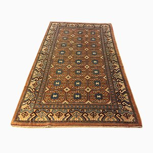 Antique Chinese Brown and Blue Khotan Rug, 1870s