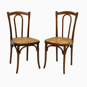 Antique Dining Chairs by Michael Thonet for Thonet, Set of 2