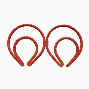 Kleiderhaken aus rotem Stoff von Joaquin Belsa, 1970er