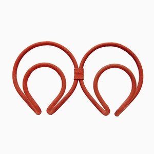 Red Cloth Coat Rack by Joaquin Belsa, 1970s