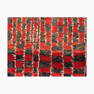 Marokkanischer Berber Talsent Teppich in Rot, Braun & Weiß, 1950er