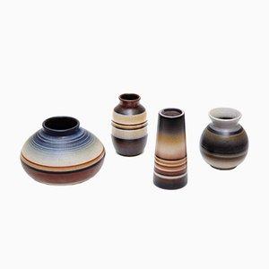 Vaso in ceramica di Joan Serra, Spagna, anni '60, set di 4
