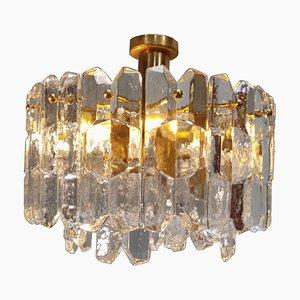 Deckenlampe aus Eisglas von J.T. Kalmar für Kalmar Franken KG, 1960er