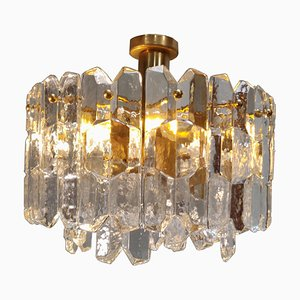 Ice Glass Ceiling Lamp by J. T. Kalmar for Kalmar Franken KG, 1960s