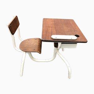 Mesa infantil de madera y metal, años 50