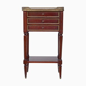 Antique French Mahogany and Marble Nightstand