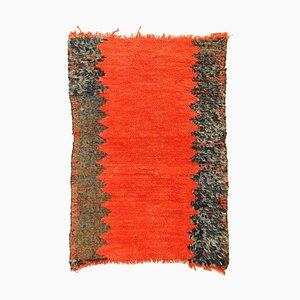 Berber Wollteppich in Rot & Schwarz, 1960er