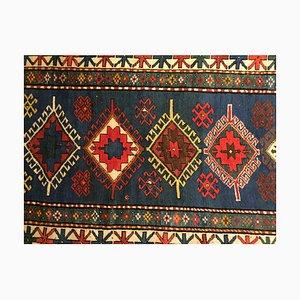 Blauer kasachischer Wollteppich, 1900er