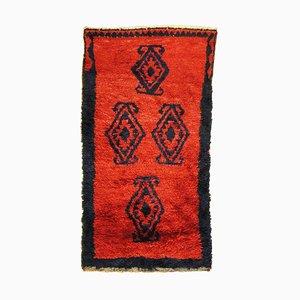 Turkish Red and Black Woolen Tulu Rug, 1960s