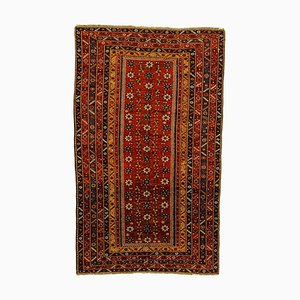 19th Century Red and Yellow Woolen Rug, 1890s