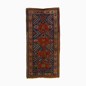 Kasachischer Wollteppich in Blau & Rot, 1920er