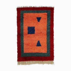 Türkischer Tulu Wollteppich in Pink, Rot & Grün, 1970er