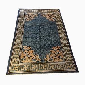 Blauer chinesischer Teppich, 19. Jh.