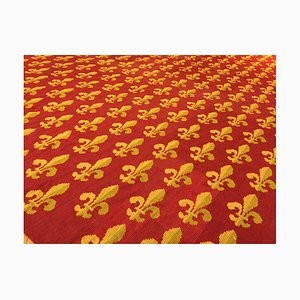 29th Century French Red and Yellow Woolen Rug