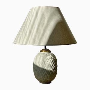 Lámpara de mesa de cerámica chamota grande de Gunnar Nylund para Rörstrand, años 50