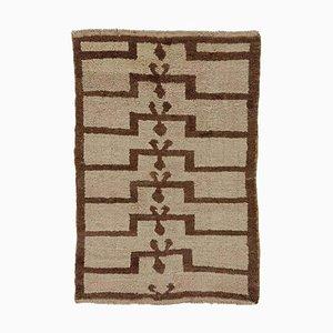Türkischer Tulu Wollteppich in Grau & Braun, 1920er