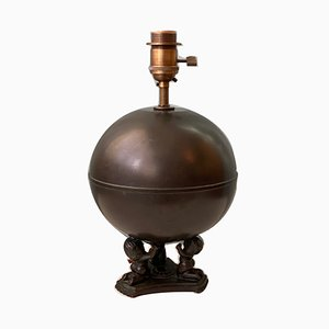 Swedish Bronze Table Lamp from Nilsson and Johansson, 1930s