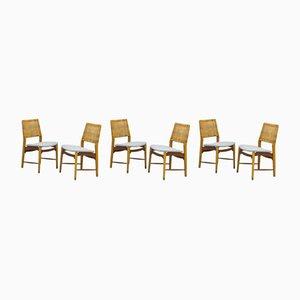 Norwegische Esszimmerstühle von Alfred Sand, 1950er, 6er Set