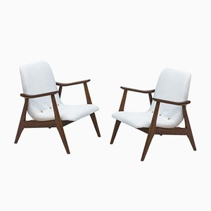 Dutch Lounge Chairs by Louis van Teeffelen for WéBé, 1950s, Set of 2