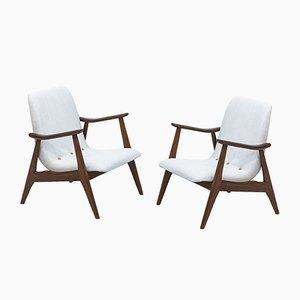 Niederländische Sessel von Louis van Teeffelen für WéBé, 1950er, 2er Set