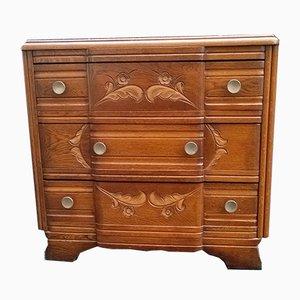 Art Deco Gilded Oak Dresser, 1940s