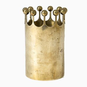 Mid-Century Brass Vase by Pierre Forssell for Skultuna, 1960s