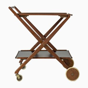 Mid-Century Swedish Teak Bar Trolley, 1950s