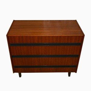 Mid-Century Walnut Shoe Cabinet