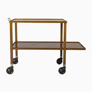 Mahogany Bar Trolley by Josef Frank for Svenskt Tenn, 1950s