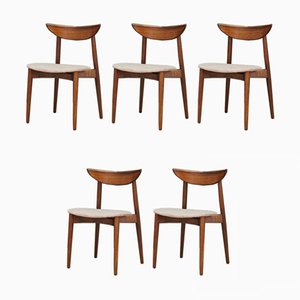 Vintage Rosewood Lounge Chairs by Harry Østergaard, 1970s, Set of 5