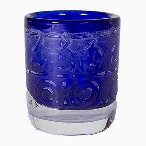 Modell Thalatta Vase aus Glas von Bengt Edenfalk für Gullaskruf, 1960er
